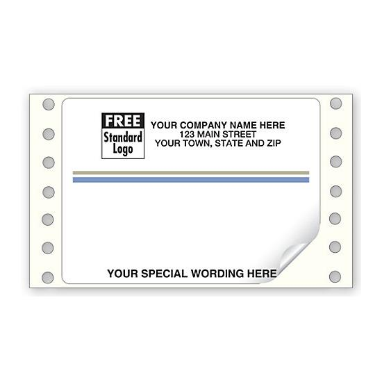 [Image: Continuous Blue Gray Stripe Mailing Labels.]