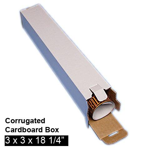 [Image: Five Panel Folding Tube Corrugated Cardboard Mailing Box 3 x 3 x 18]