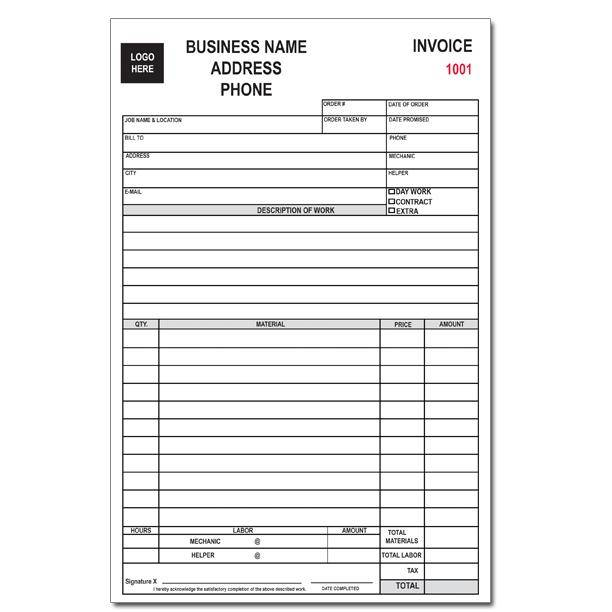Custom business forms invoices receipts continuous for Custom home estimate template