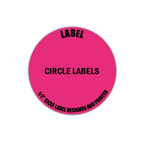 "[Image: 1/2"" Circle Label - Personalized & Custom Printed]"