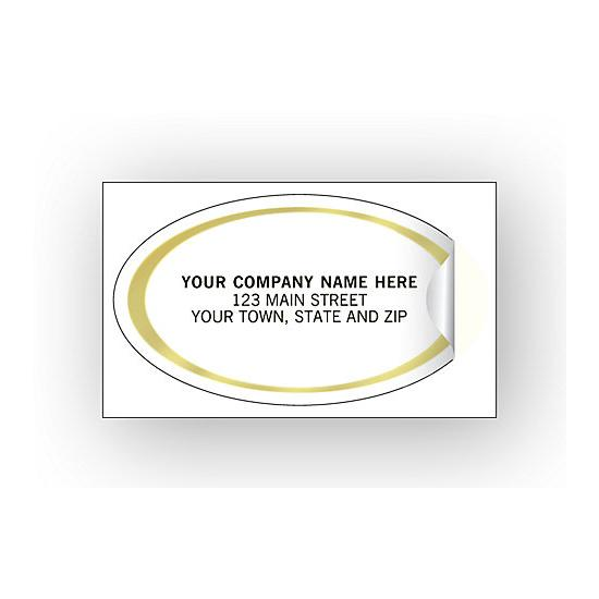 [Image: Oval Labels - Advertising Labels - Gold Foil Border]