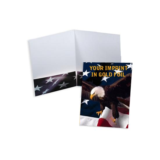 [Image: Patriotic Tax Return Folder - Stock or Foil Stamp]