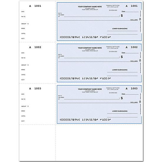 [Image: QuickBooks Laser Wallet Check, Lined DLW008]