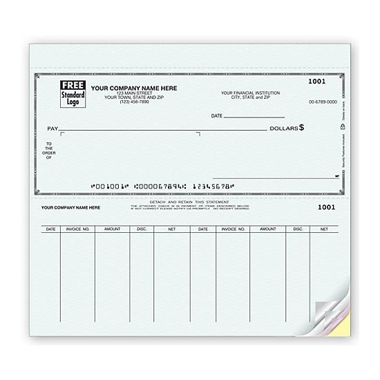 [Image: Voucher Window Check - Personalized & Printed with Your Checking Account]