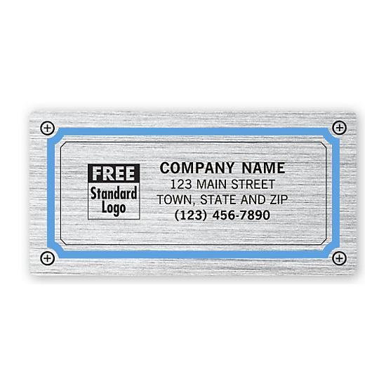 [Image: Advertising Labels, Brushed Chrome Poly Film]
