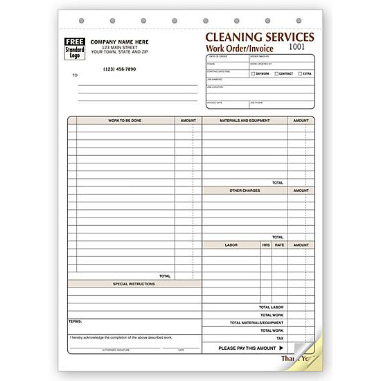 [Image: Cleaning Company Contract - Work Orders]