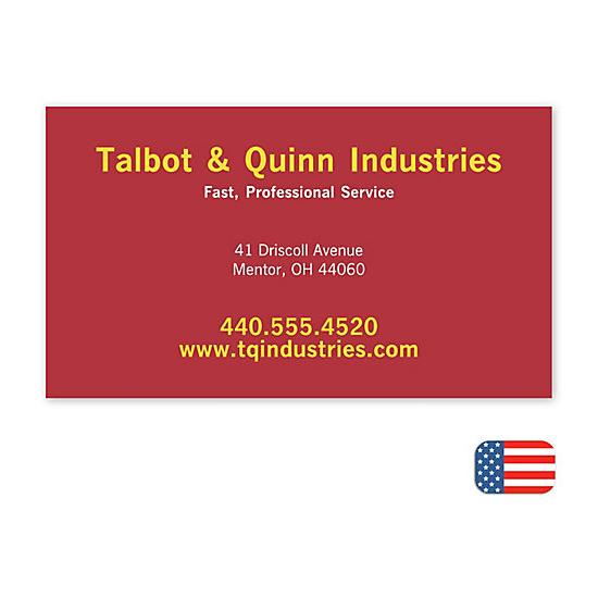 [Image: Jumbo Business Card Magnet]