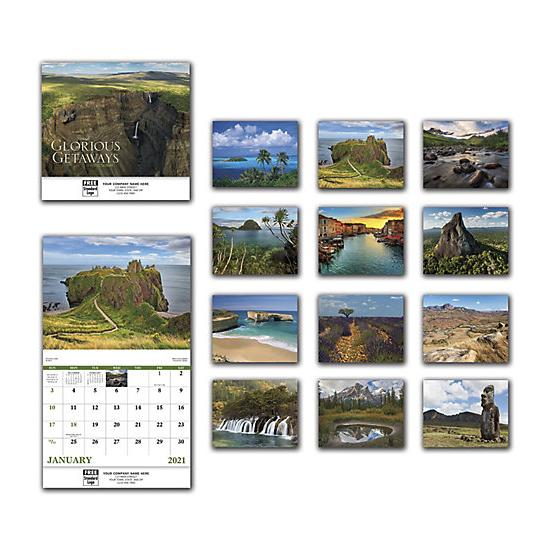 [Image: 2021 Glorious Getaways Wall Calendar, Personalized & Custom Printed]