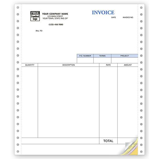 [Image: Service Invoices, Continuous, Classic Forms]