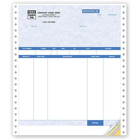 [Image: Continuous Packing List Form - Product Invoices]