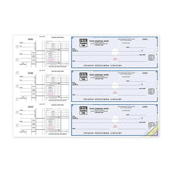 [Image: 3-On-A-Page Payroll & Disbursement Check Side-Tear Vouchers 53226DS]