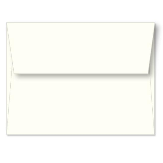 [Image: Ivory Linen Announcement Envelope A6 (4 3/4 x 6 1/2) - Custom Printed]