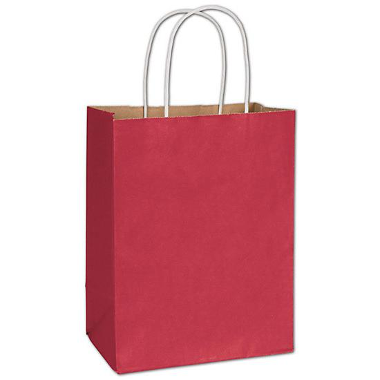"[Image: Crimson Radiant Paper Shopping Bag, 8 1/4 X 4 3/4 X 10 1/2"", Retail Bags]"