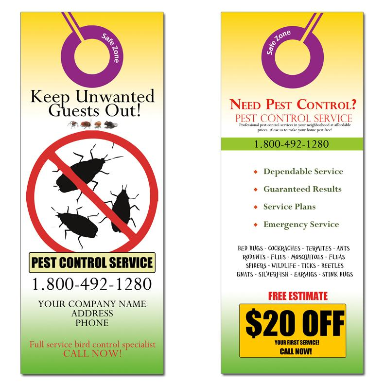 Pest Control Door Hanger Marketing