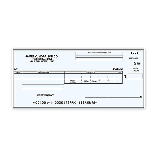 [Image: Payroll-Disbursement One Write Check]