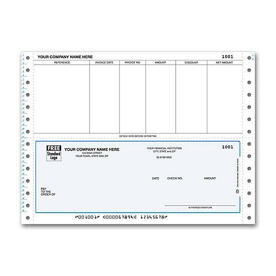 [Image: Continuous Bottom Accounts Payable Check DCB210]