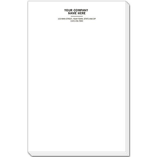 [Image: Personalized Notepads, Letterhead Format, Large]