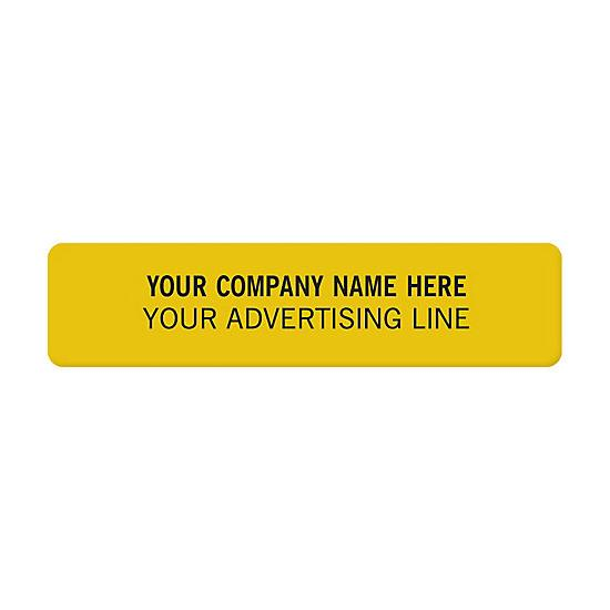 [Image: Square Corner 2 X 1/2 Polyester Labels]