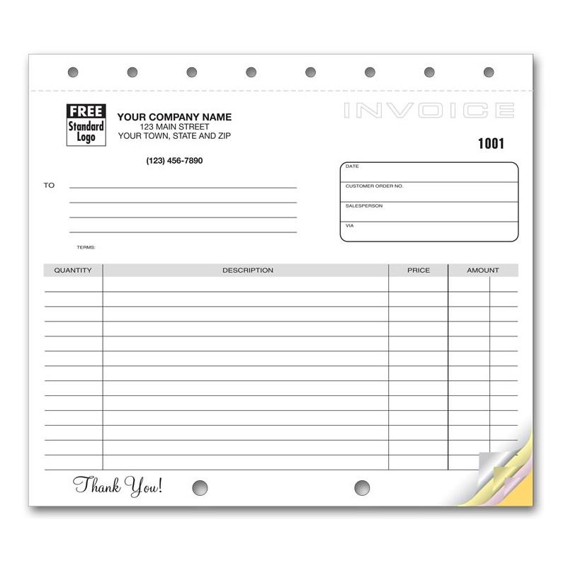 Invoice Form With Carbon Copy