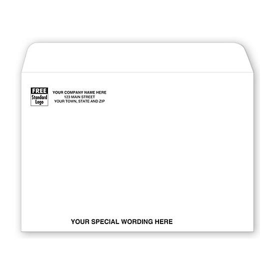 [Image: 9 X 6 White Booklet Envelope]