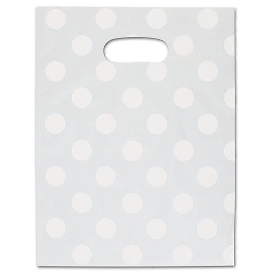 [Image: White Dots Frosted High Density Merchandise Bag]