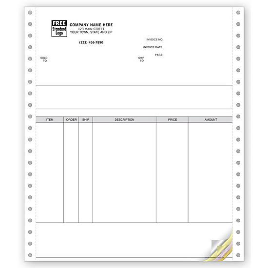 [Image: General Continuous Carbonless Invoice Forms]