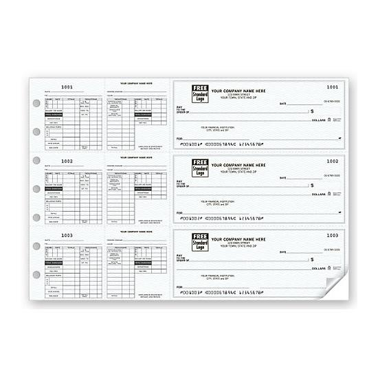 [Image: 3-On-A-Page Payroll Checks, Double Side-Tear Vouchers 53229N]