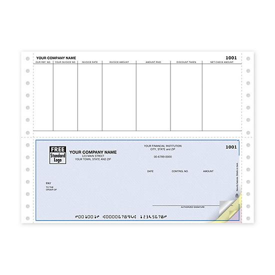 [Image: Continuous Bottom Accounts Payable Check DCB203]
