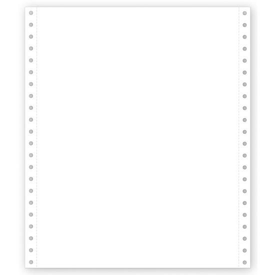 "[Image: 9 1/2 X 11"" Continuous Feed Blank Stock Paper]"