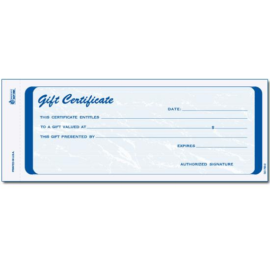 [Image: Blank Gift Certificate]