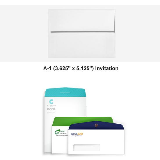 [Image: Full Color A-1 Invitation Envelope - Custom Printed with Return Address]