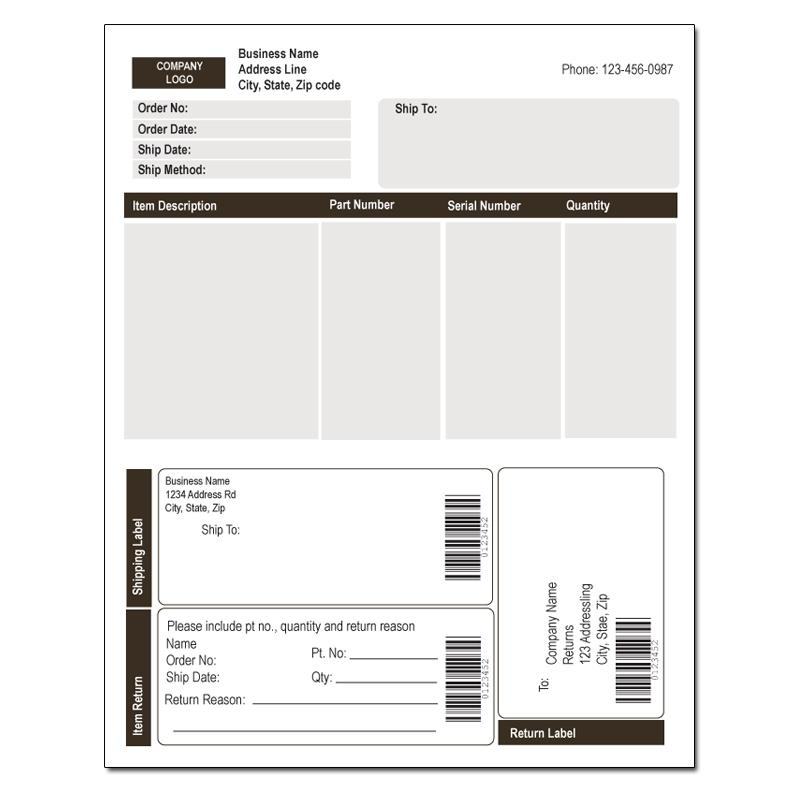 [Image: Integrated Invoice Label]