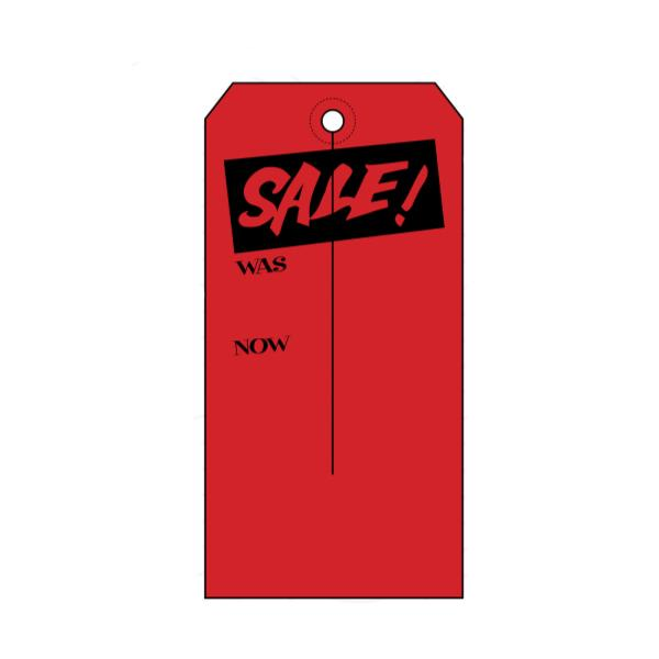 [Image: Fluorescent Red Sale Price Tag]