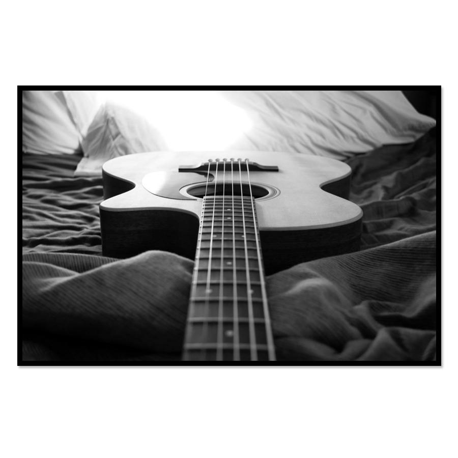 [Image: Wall Poster - Music Themed With Guitar]