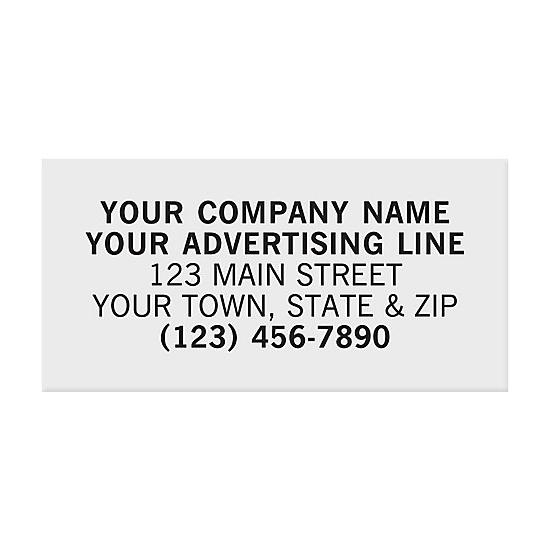 "[Image: Rectangle 1 1/2 X 3/4"" Paper Label - Custom Printed]"