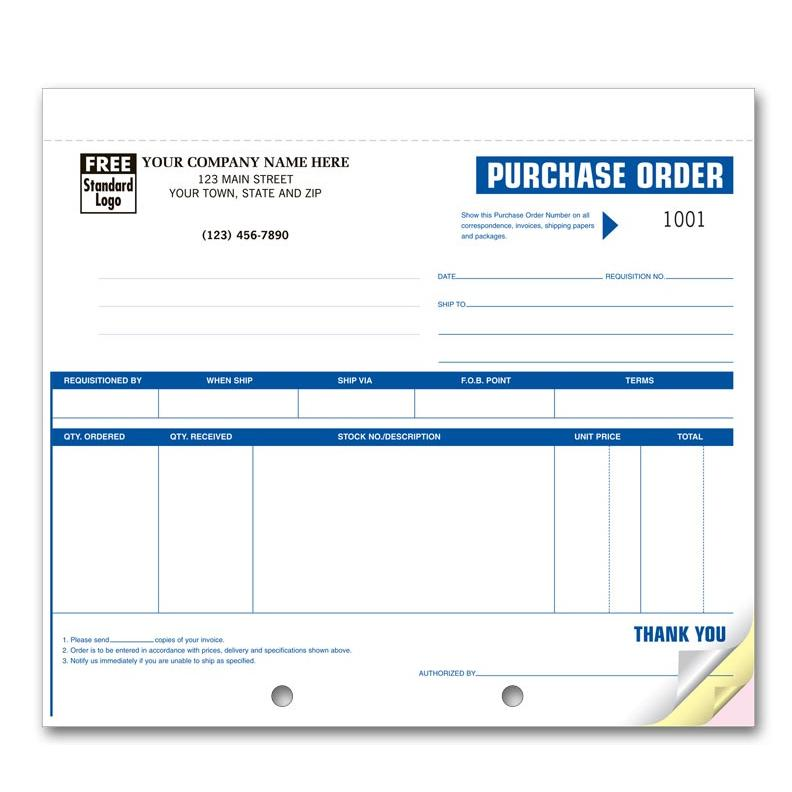 "[Image: Purchase Orders - Customized Carbonless Business Forms, 2-Part, 3-Part, High-Impact Small 8 1/2 x 7""]"